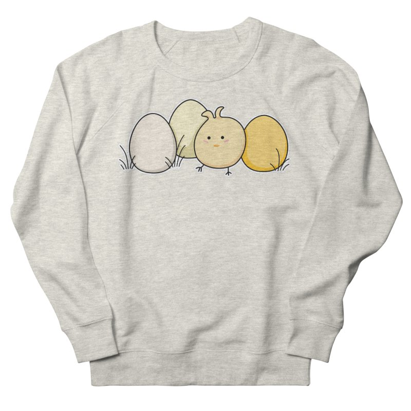 Cute Kawaii Easter Chick and Eggs Women's Sweatshirt by Flaming Imp's Artist Shop