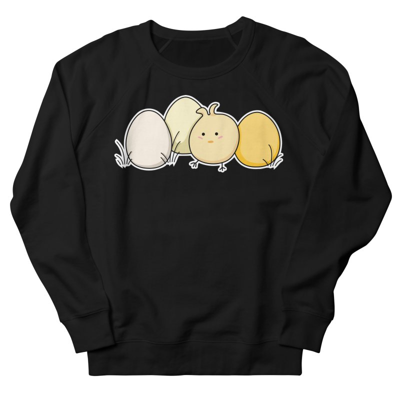 Cute Kawaii Easter Chick and Eggs Men's Sweatshirt by Flaming Imp's Artist Shop