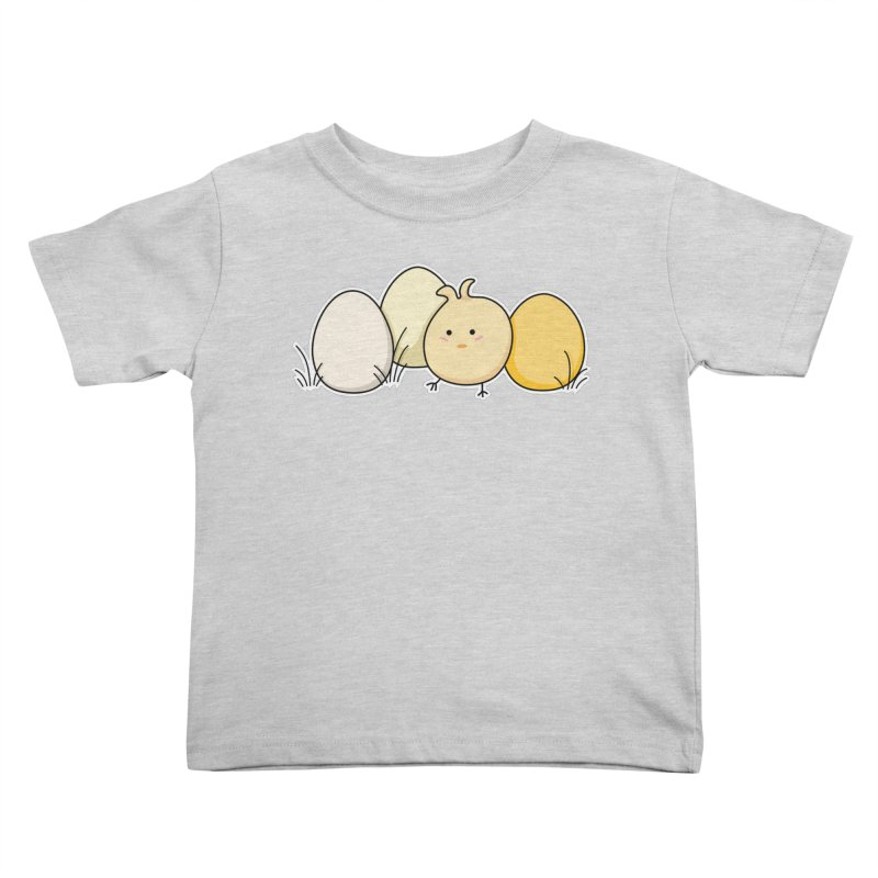 Cute Kawaii Easter Chick and Eggs Kids Toddler T-Shirt by Flaming Imp's Artist Shop