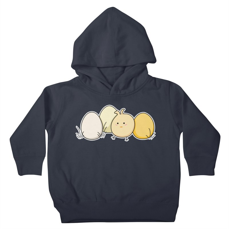 Cute Kawaii Easter Chick and Eggs Kids Toddler Pullover Hoody by Flaming Imp's Artist Shop