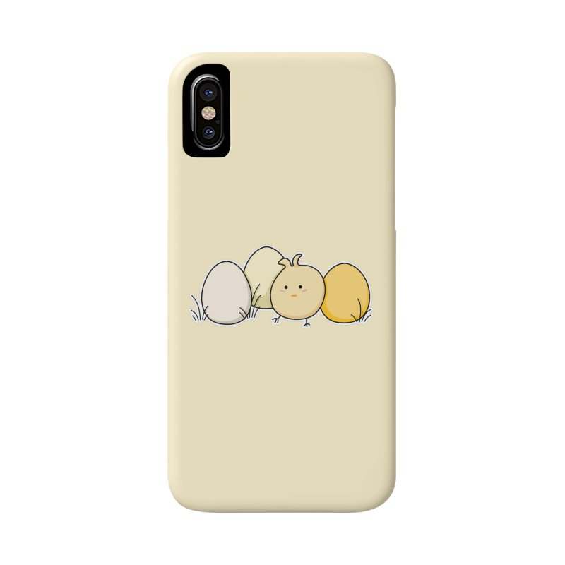 Cute Kawaii Easter Chick and Eggs Accessories Phone Case by Flaming Imp's Artist Shop