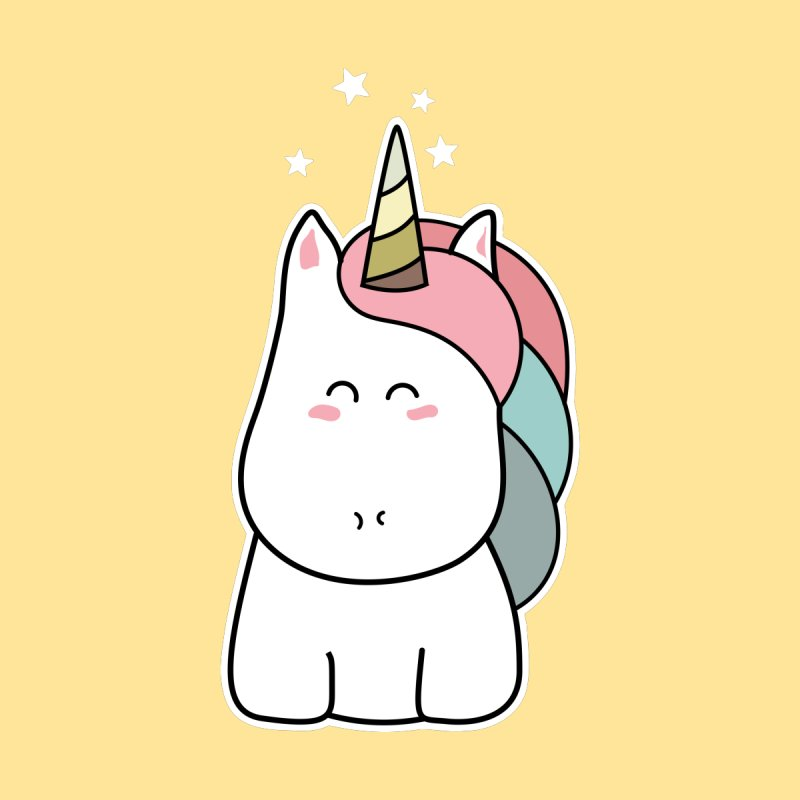 Cute Kawaii Unicorn None  by Flaming Imp's Artist Shop