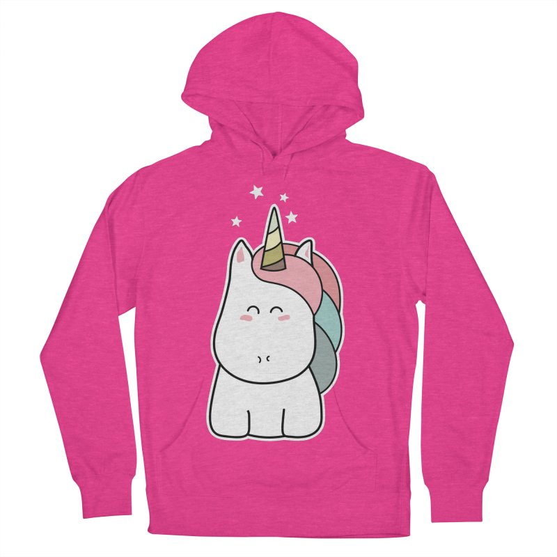 Cute Kawaii Unicorn Men's Pullover Hoody by Flaming Imp's Artist Shop