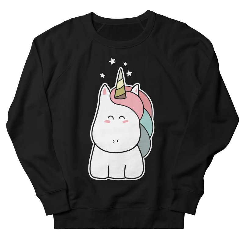 Cute Kawaii Unicorn Women's Sweatshirt by Flaming Imp's Artist Shop