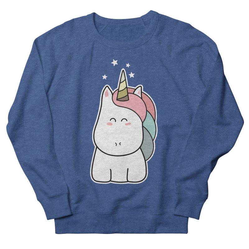 Cute Kawaii Unicorn Men's Sweatshirt by Flaming Imp's Artist Shop