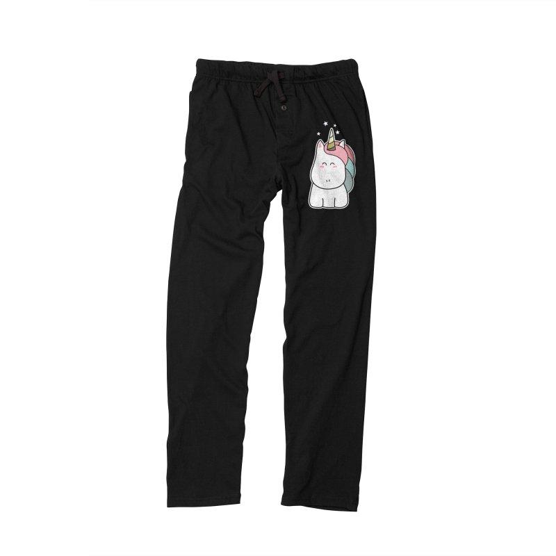 Cute Kawaii Unicorn Men's Lounge Pants by Flaming Imp's Artist Shop