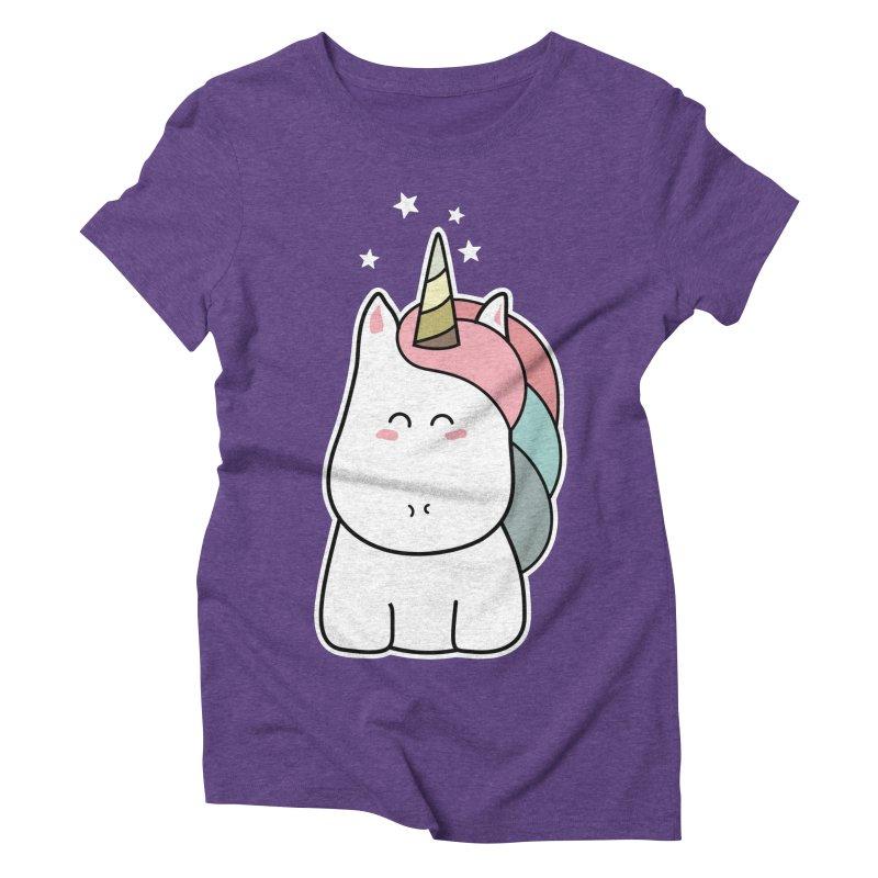 Cute Kawaii Unicorn Women's Triblend T-Shirt by Flaming Imp's Artist Shop