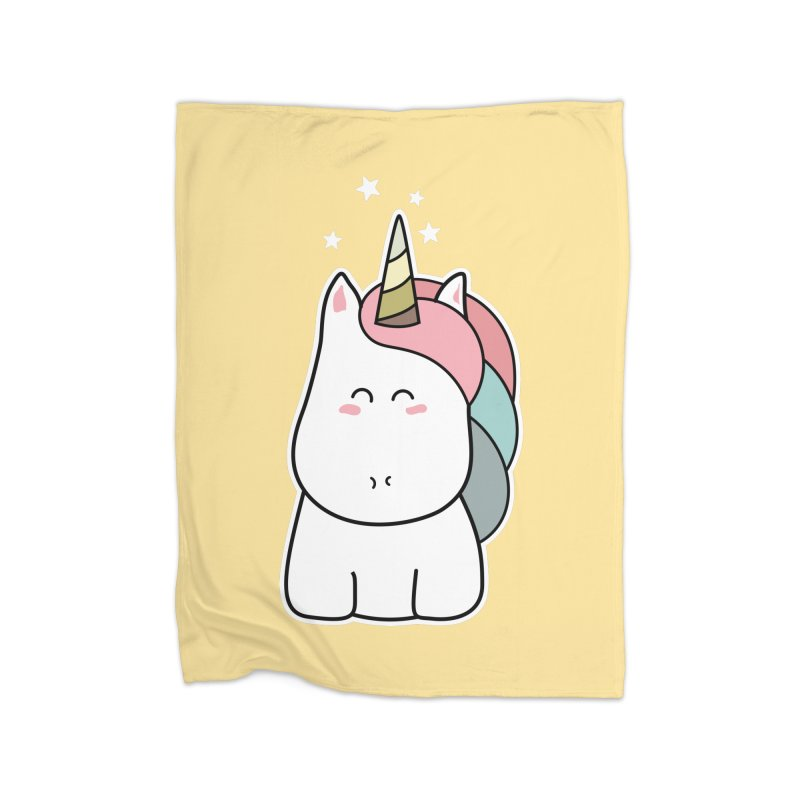 Cute Kawaii Unicorn Home Blanket by Flaming Imp's Artist Shop
