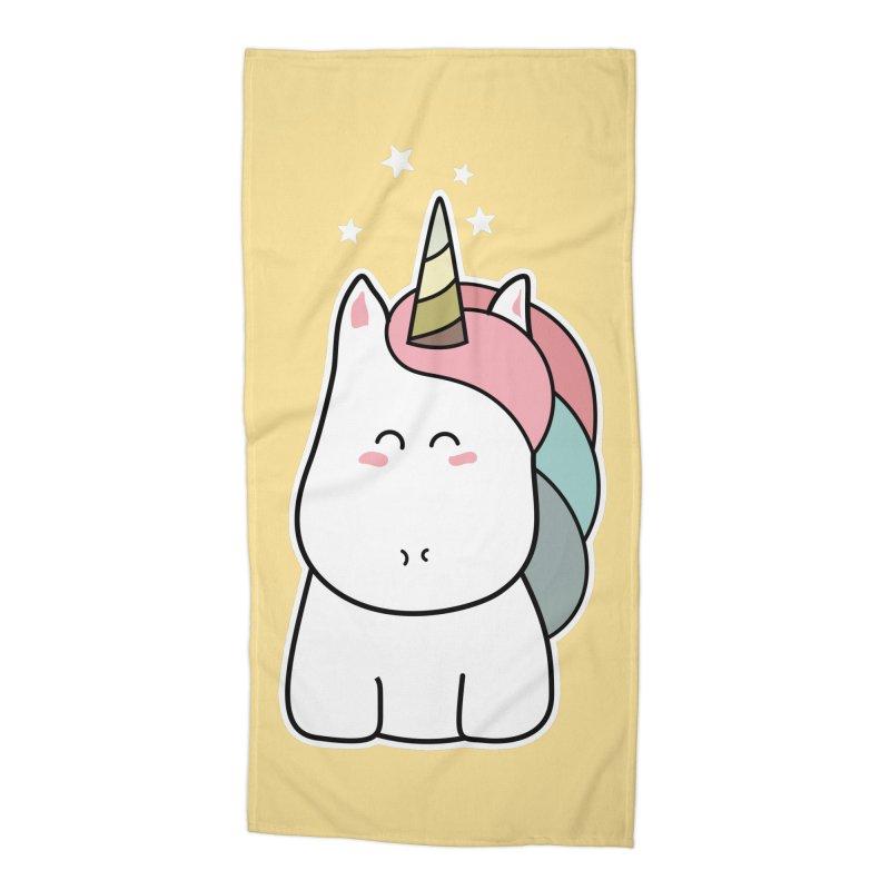 Cute Kawaii Unicorn Accessories Beach Towel by Flaming Imp's Artist Shop