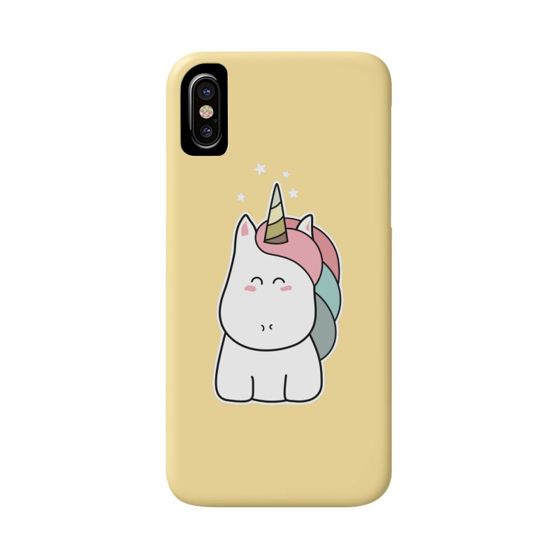 Cute Kawaii Unicorn Accessories Phone Case by Flaming Imp's Artist Shop