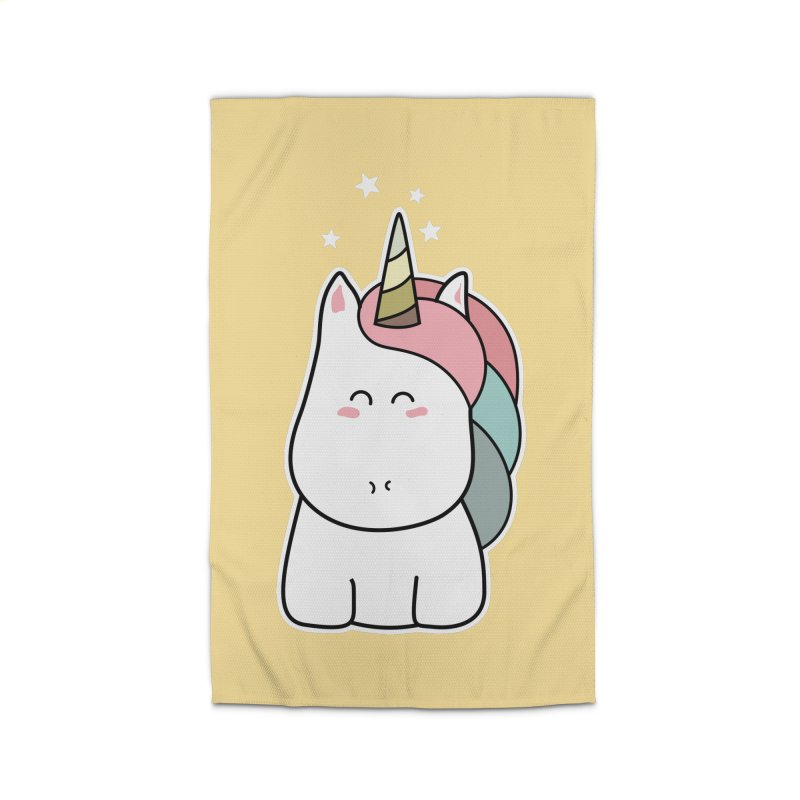 Cute Kawaii Unicorn Home Rug by Flaming Imp's Artist Shop