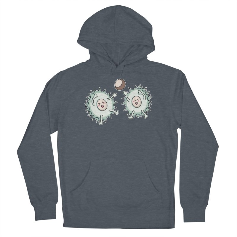 Kawaii Cute Horse Chestnut Playing Unisex Pullover Hoody by Flaming Imp's Artist Shop