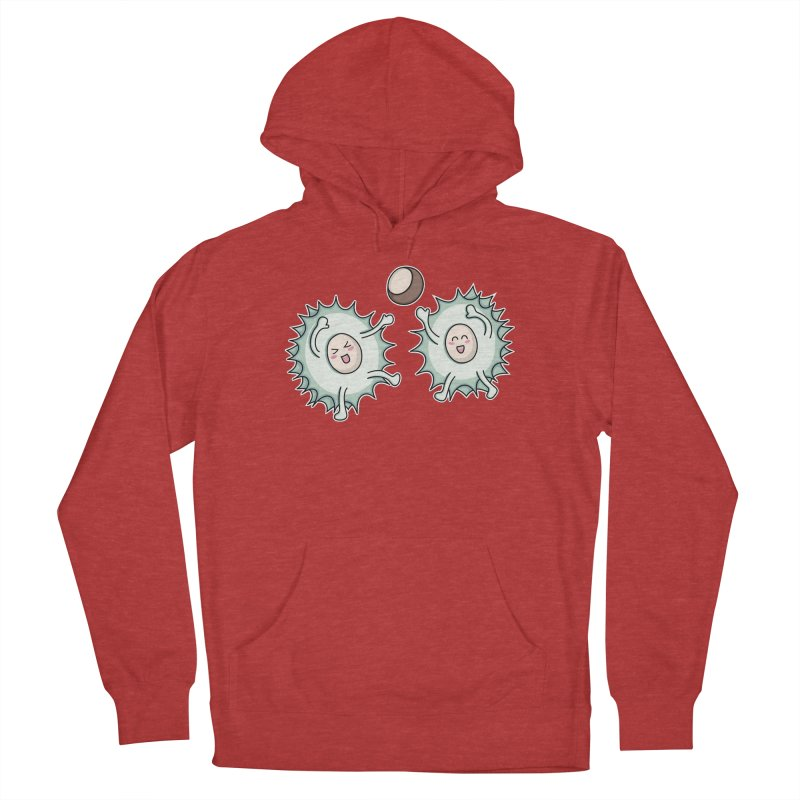 Kawaii Cute Horse Chestnut Playing Men's Pullover Hoody by Flaming Imp's Artist Shop