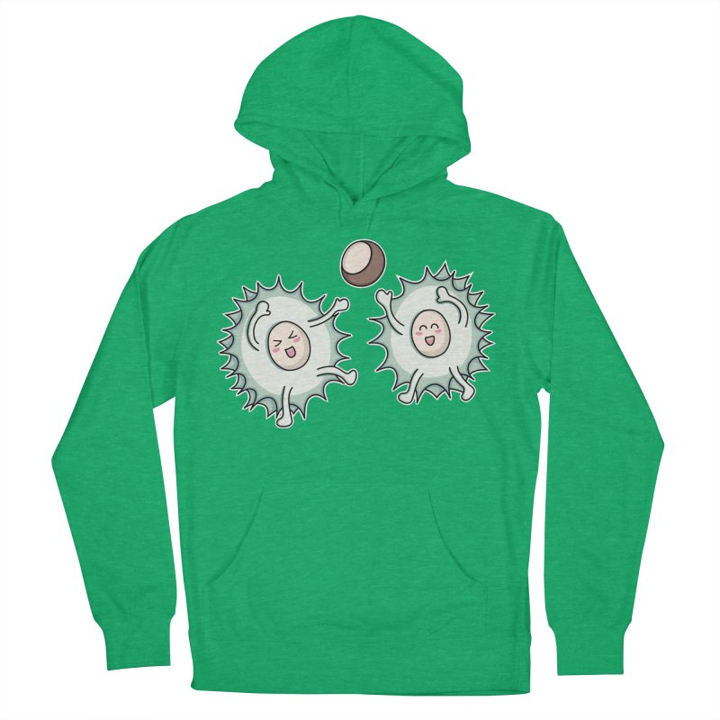 Kawaii Cute Horse Chestnut Playing Women's Pullover Hoody by Flaming Imp's Artist Shop