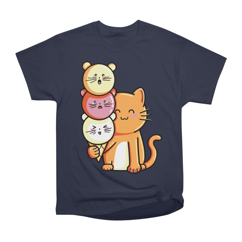 Cat and micecream Women's Heavyweight Unisex T-Shirt by Flaming Imp's Artist Shop