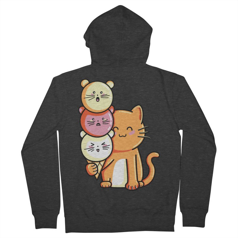 Cat and micecream Men's Zip-Up Hoody by Flaming Imp's Artist Shop
