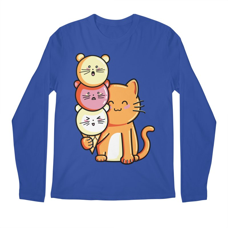 Cat and micecream Men's Longsleeve T-Shirt by Flaming Imp's Artist Shop