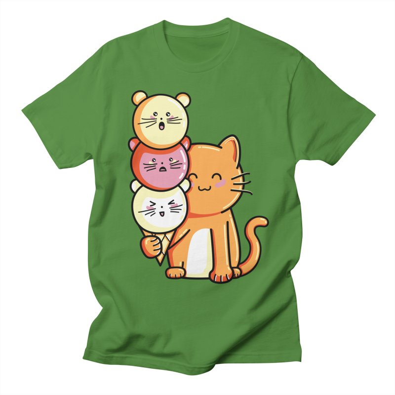 Cat and micecream Men's T-Shirt by Flaming Imp's Artist Shop