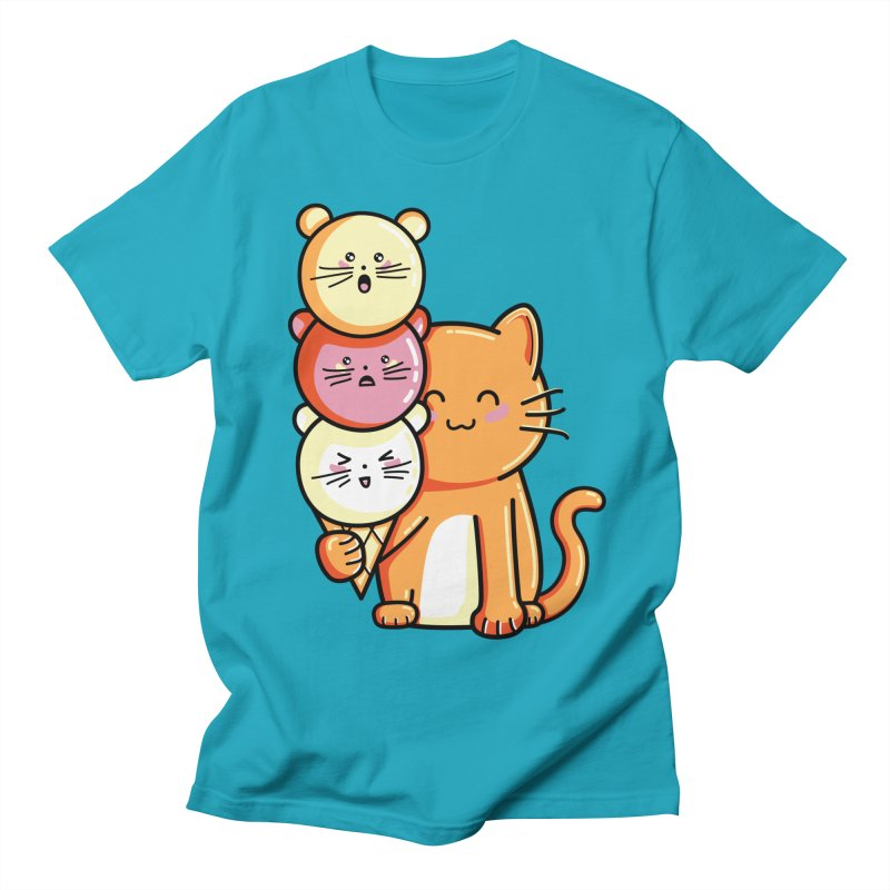 Cat and micecream Women's Unisex T-Shirt by Flaming Imp's Artist Shop