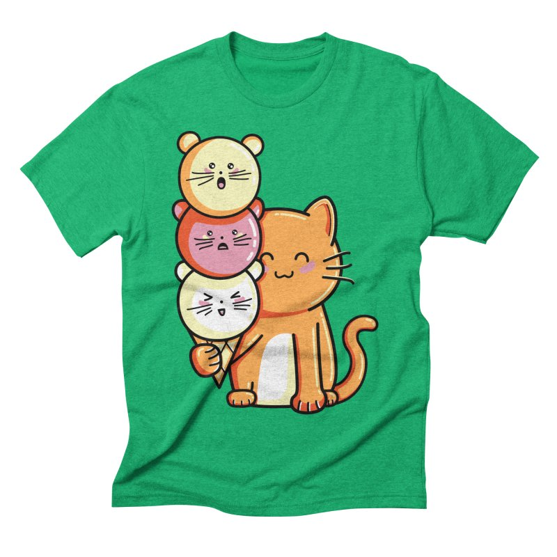Cat and micecream Men's Triblend T-Shirt by Flaming Imp's Artist Shop