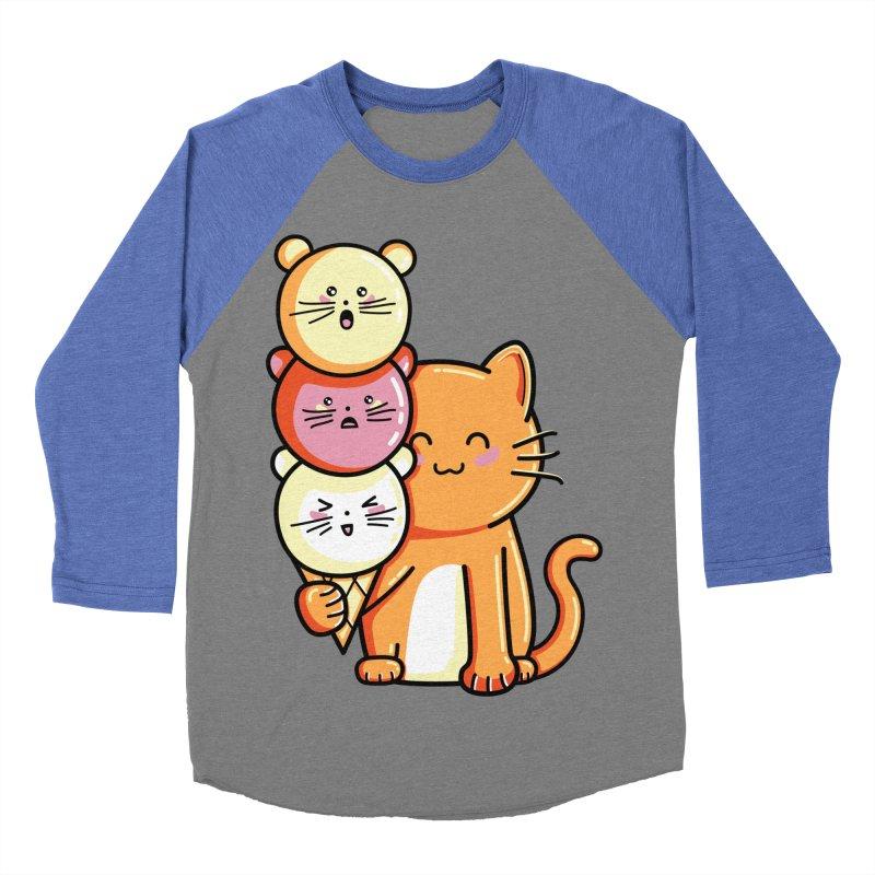 Cat and micecream Women's Baseball Triblend T-Shirt by Flaming Imp's Artist Shop