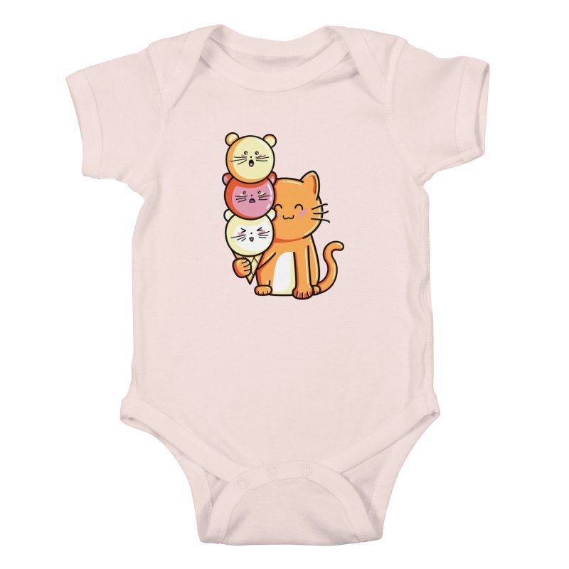 Cat and micecream Kids Baby Bodysuit by Flaming Imp's Artist Shop