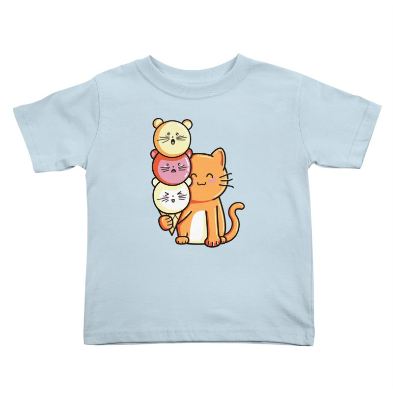 Cat and micecream Kids Toddler T-Shirt by Flaming Imp's Artist Shop
