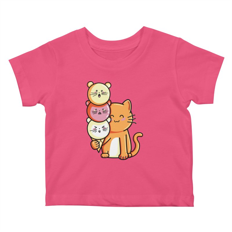 Cat and micecream Kids Baby T-Shirt by Flaming Imp's Artist Shop