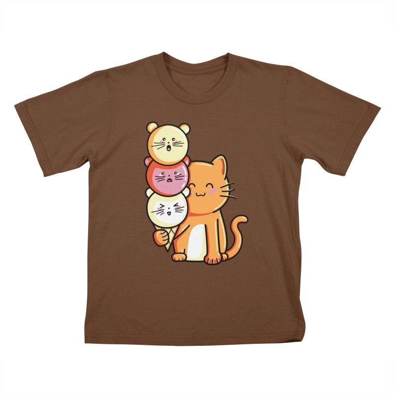 Cat and micecream Kids T-Shirt by Flaming Imp's Artist Shop