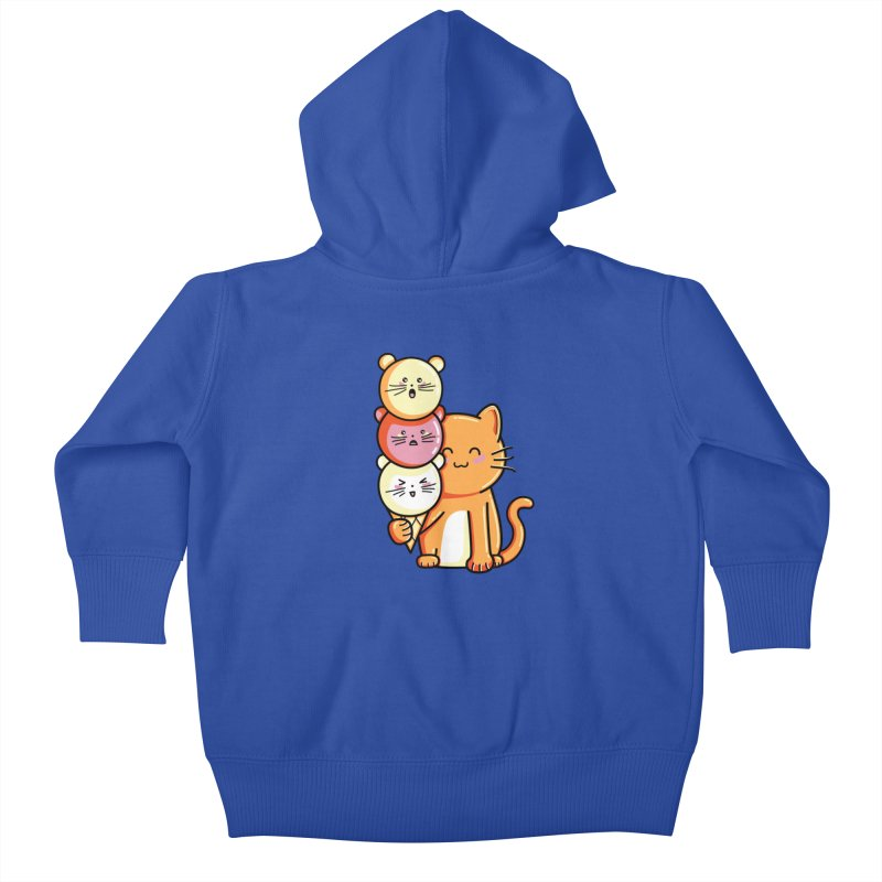 Cat and micecream Kids Baby Zip-Up Hoody by Flaming Imp's Artist Shop