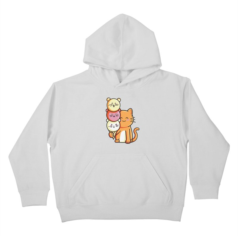 Cat and micecream Kids Pullover Hoody by Flaming Imp's Artist Shop
