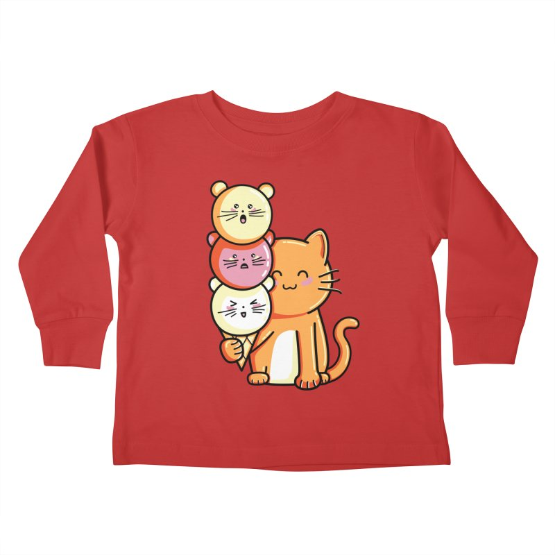 Cat and micecream Kids Toddler Longsleeve T-Shirt by Flaming Imp's Artist Shop