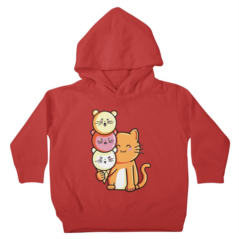 Cat and micecream Kids Toddler Pullover Hoody by Flaming Imp's Artist Shop