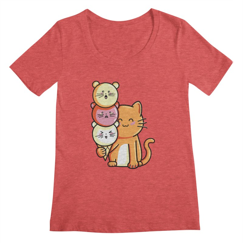 Cat and micecream Women's Scoopneck by Flaming Imp's Artist Shop