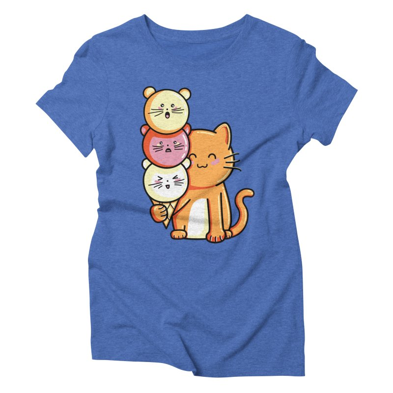 Cat and micecream Women's Triblend T-Shirt by Flaming Imp's Artist Shop