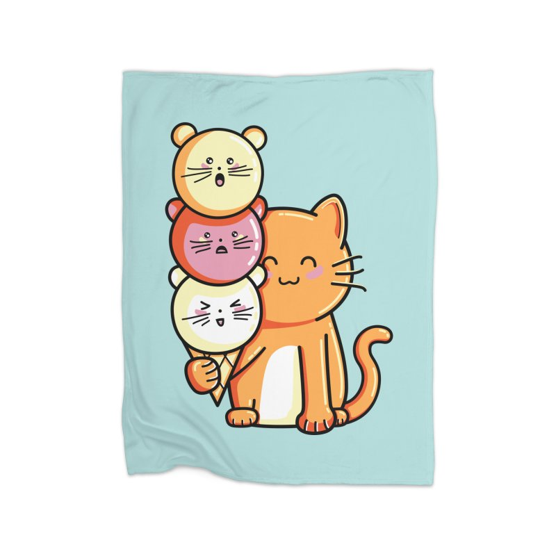 Cat and micecream Home Blanket by Flaming Imp's Artist Shop
