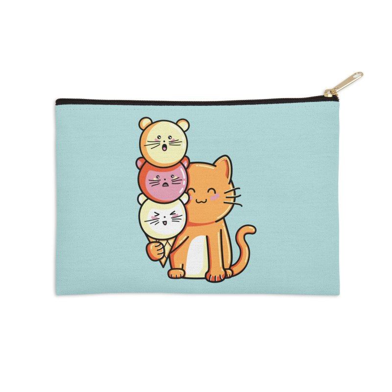 Cat and micecream Accessories Zip Pouch by Flaming Imp's Artist Shop