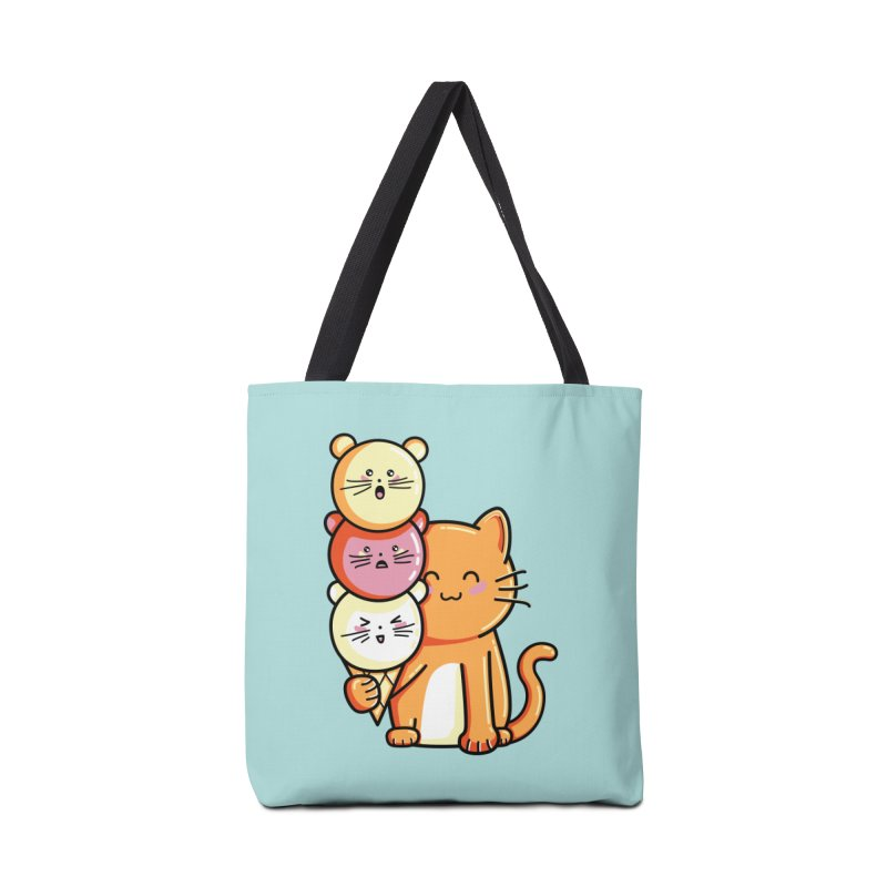 Cat and micecream Accessories Bag by Flaming Imp's Artist Shop