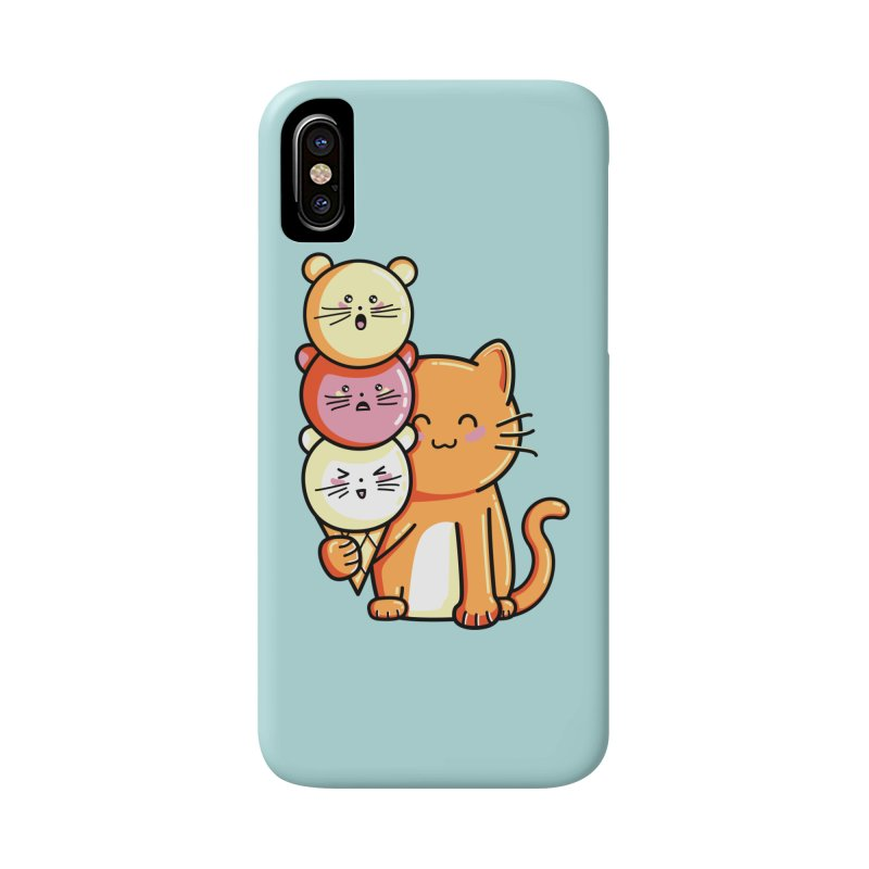 Cat and micecream Accessories Phone Case by Flaming Imp's Artist Shop