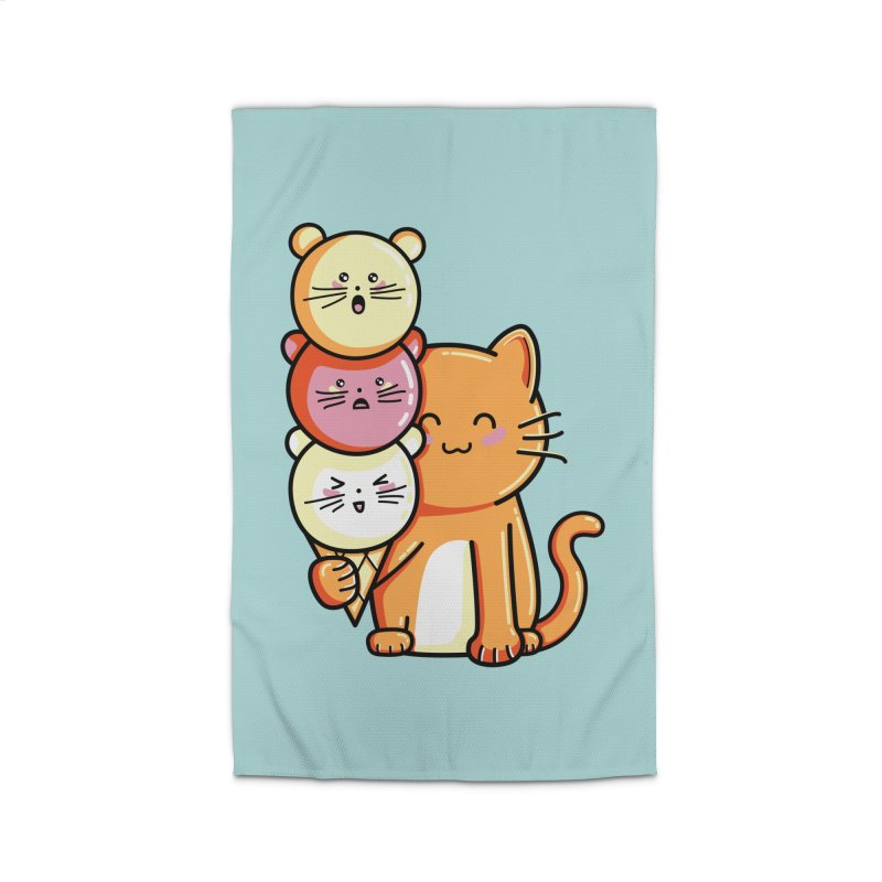 Cat and micecream Home Rug by Flaming Imp's Artist Shop