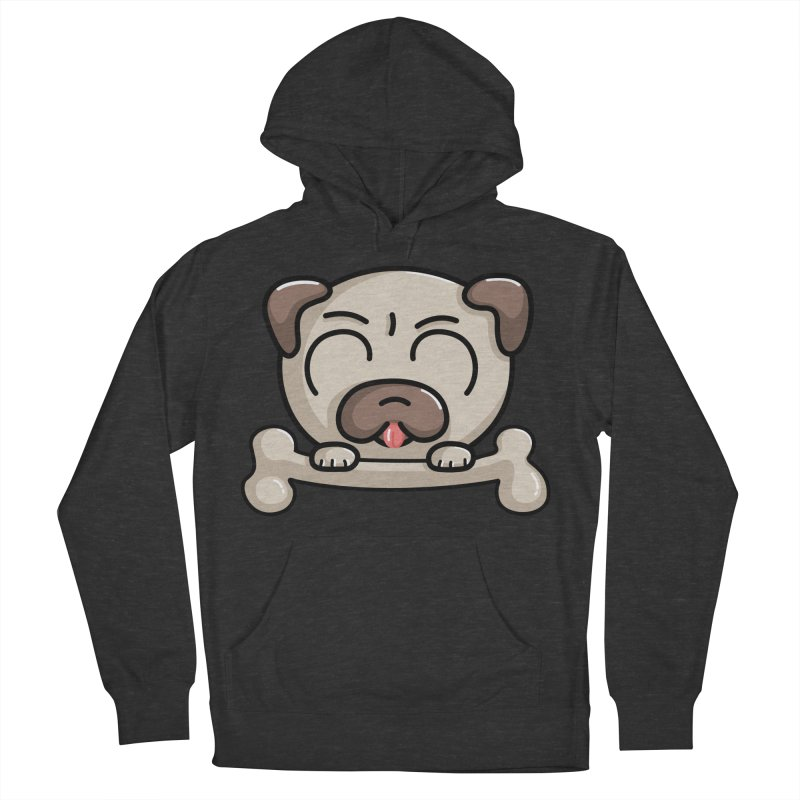 Kawaii Cute Pug Dog Women's Pullover Hoody by Flaming Imp's Artist Shop