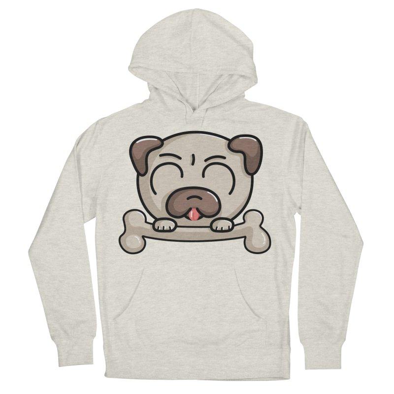 Kawaii Cute Pug Dog Men's Pullover Hoody by Flaming Imp's Artist Shop