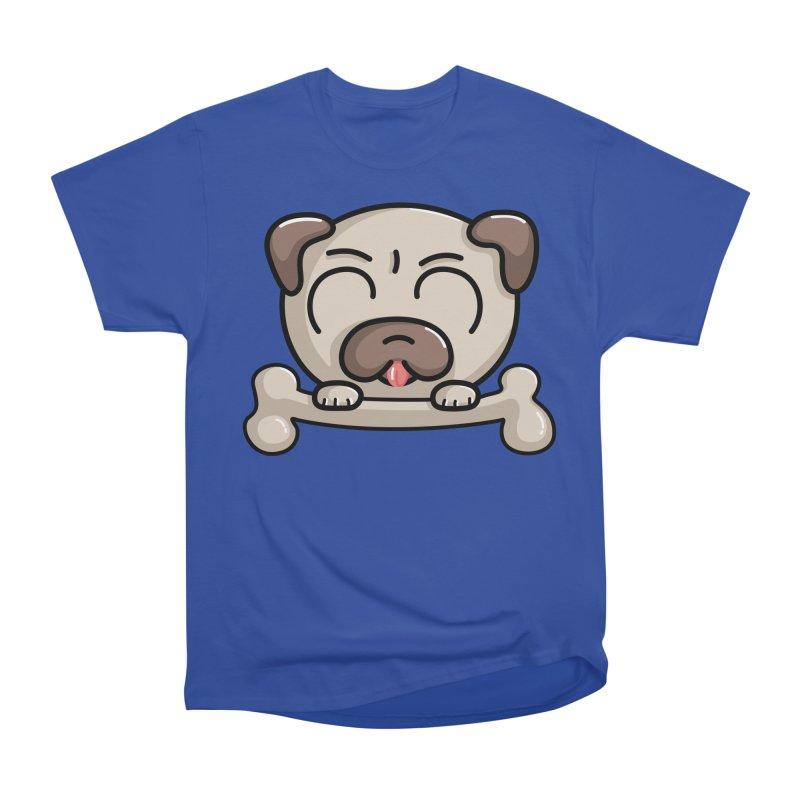 Kawaii Cute Pug Dog Men's Heavyweight T-Shirt by Flaming Imp's Artist Shop