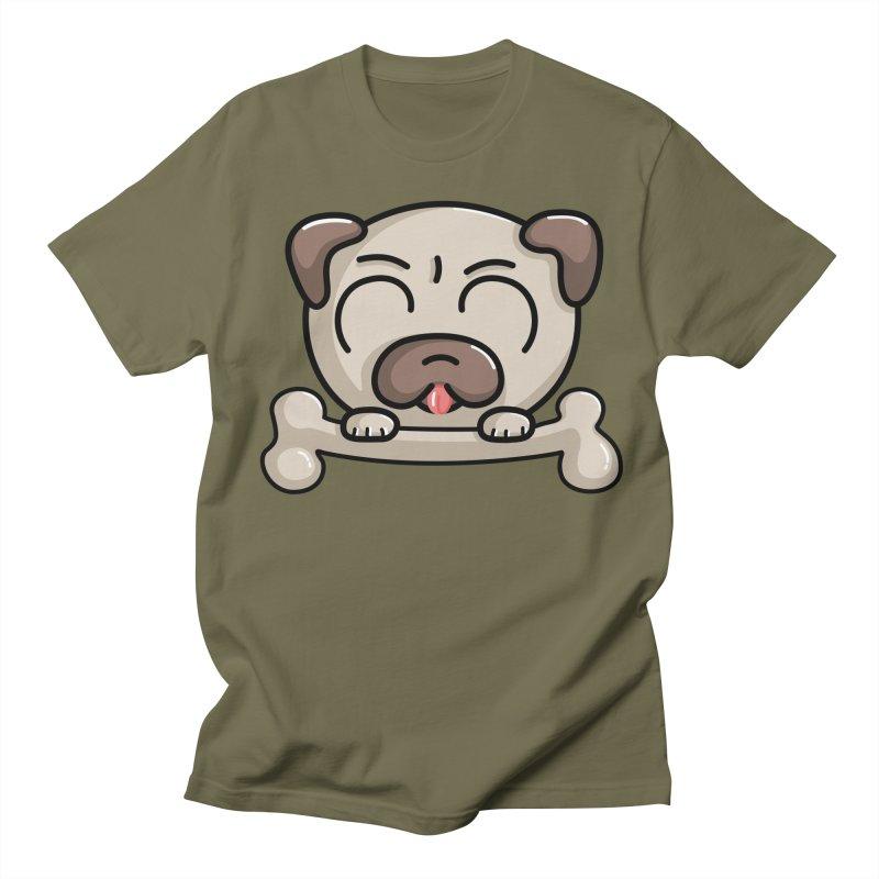 Kawaii Cute Pug Dog Men's T-Shirt by Flaming Imp's Artist Shop