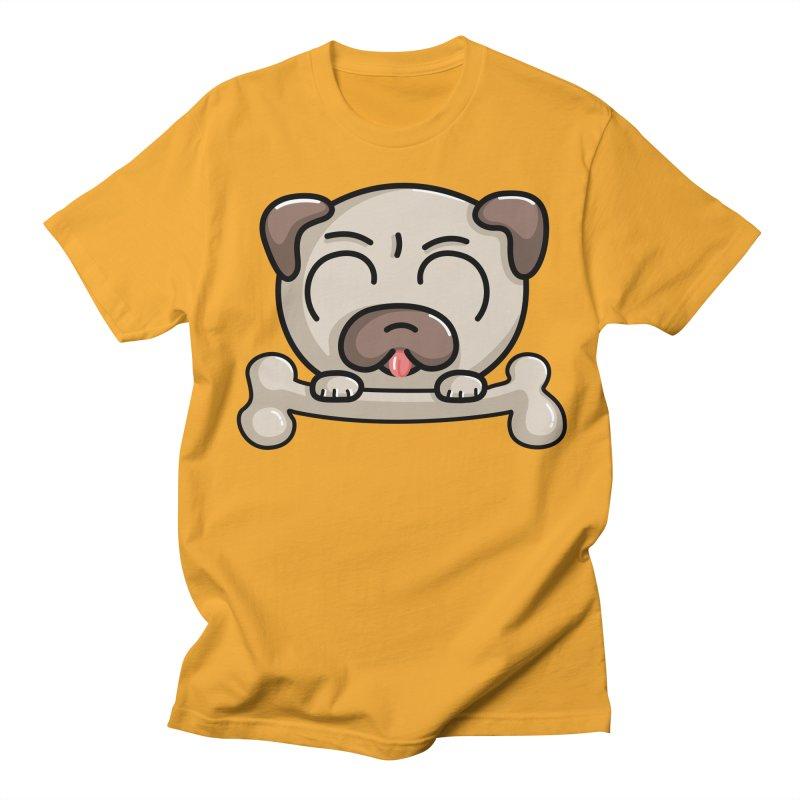 Kawaii Cute Pug Dog Women's Unisex T-Shirt by Flaming Imp's Artist Shop