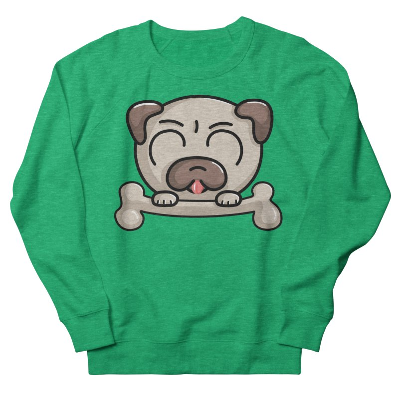 Kawaii Cute Pug Dog Women's Sweatshirt by Flaming Imp's Artist Shop