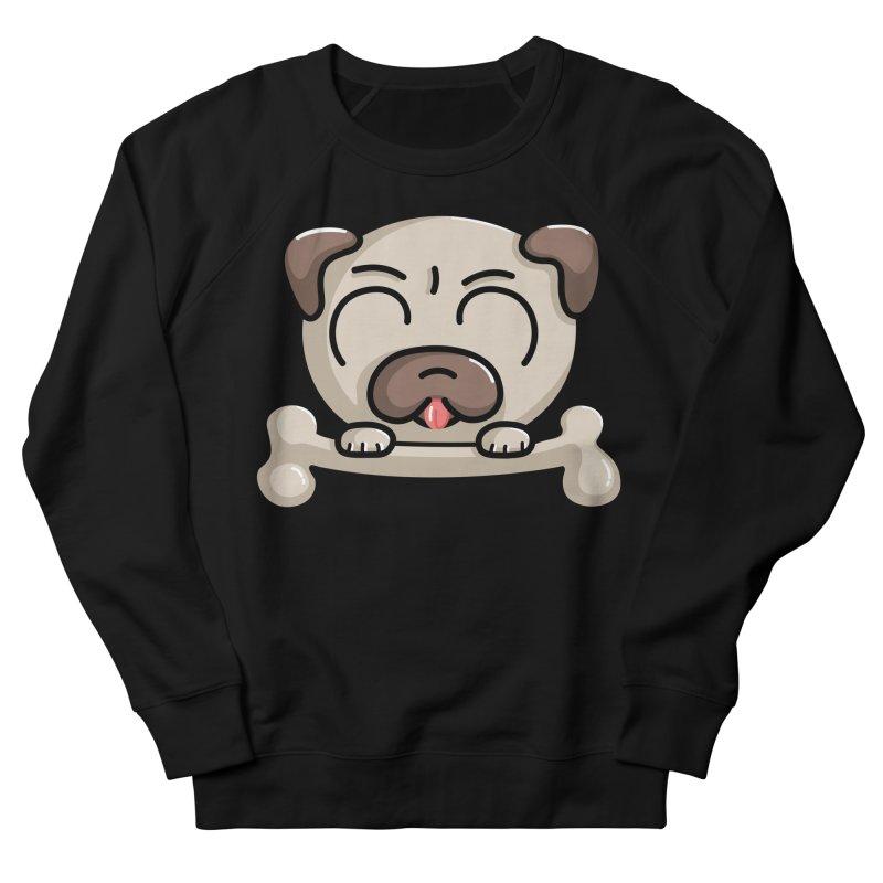 Kawaii Cute Pug Dog Women's French Terry Sweatshirt by Flaming Imp's Artist Shop