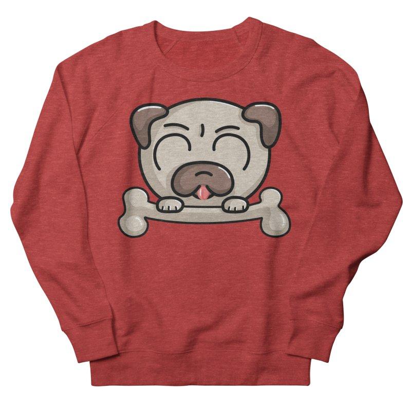 Kawaii Cute Pug Dog Men's Sweatshirt by Flaming Imp's Artist Shop