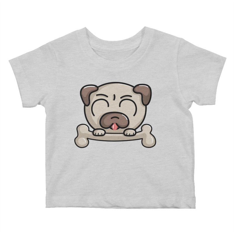 Kawaii Cute Pug Dog Kids Baby T-Shirt by Flaming Imp's Artist Shop