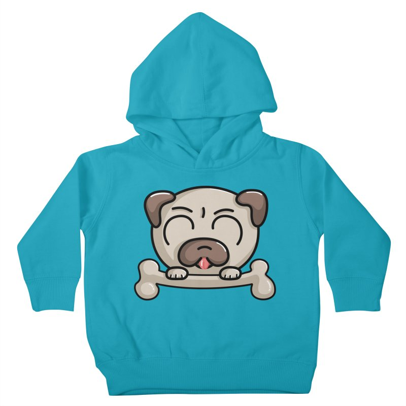 Kawaii Cute Pug Dog Kids Toddler Pullover Hoody by Flaming Imp's Artist Shop